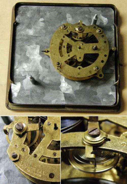 画像4: 東京時計/大理石筐体菊花レリーフ付き置き時計/動作品