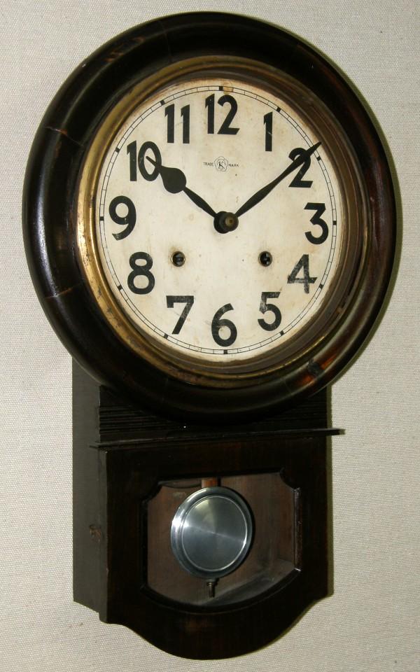 画像1: 名古屋商事(林時計)/10インチ頭丸掛け時計/動作品