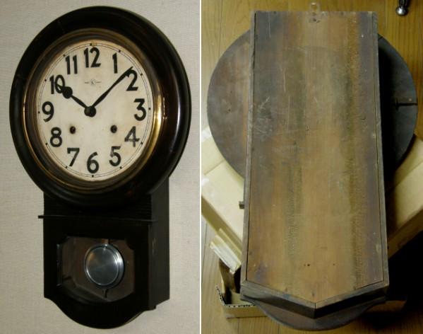 画像2: 名古屋商事(林時計)/10インチ頭丸掛け時計/動作品