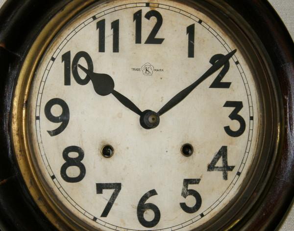 画像3: 名古屋商事(林時計)/10インチ頭丸掛け時計/動作品