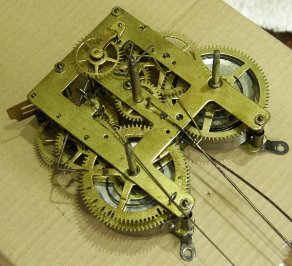 画像4: メーカー不明/6インチ八角尾長掛け時計/完動品